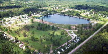 Aeiral View of Windmill Point Park and Campground